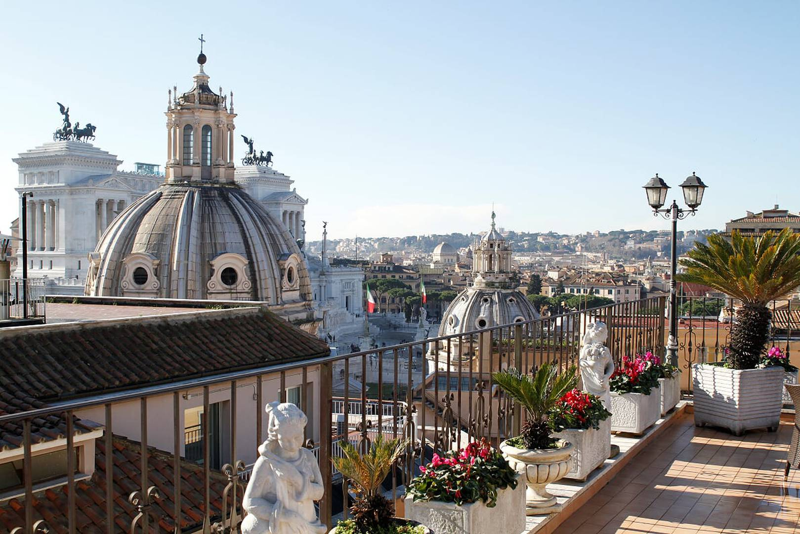 Enjoy our panoramic terrace pace helvezia hotel rome